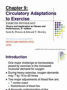 Lecture 4  Circulatory Adaptation To Exercise