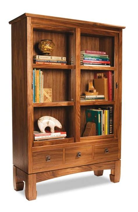 Woodworking Plans Bookcase by Sliding Door Bookcase Popular Woodworking Magazine