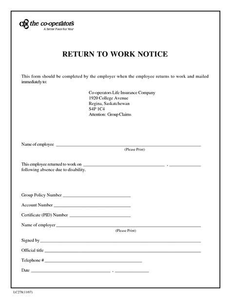 blank return  work note   printable