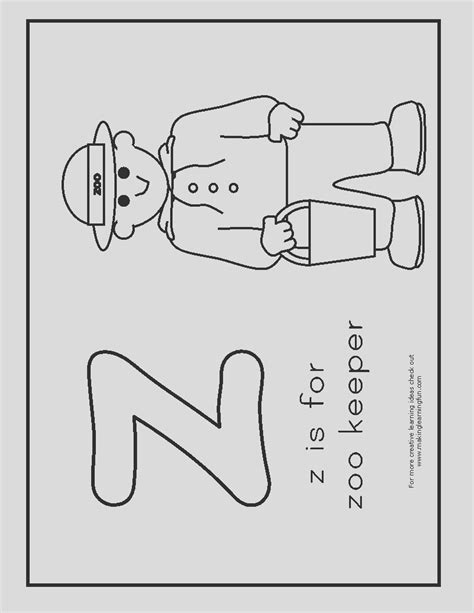 beautiful stock  zoo keeper coloring page coloring pages