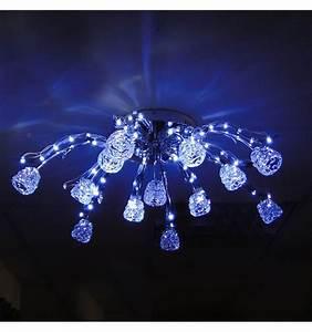 Led Deckenleuchte 80 Cm : deckenleuchte design blau led tulipe 80cm ~ Orissabook.com Haus und Dekorationen