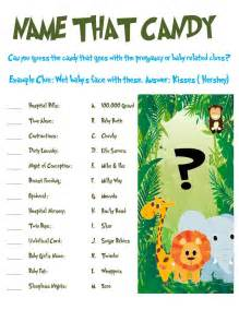 jungle animal baby shower name that by allthingsparty