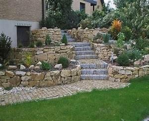 Gartengestaltung Mit Steinen : gartengestaltung hanglage mit steinen new garten ideen ~ Whattoseeinmadrid.com Haus und Dekorationen