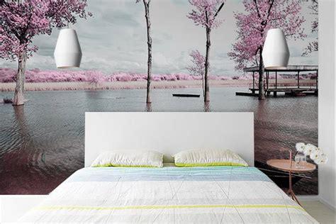 papiers peints pour chambre adulte papier peint chambre rive de cerisiers izoa