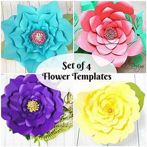 Diy Giant Paper Flowers Template  Instant Download Paper