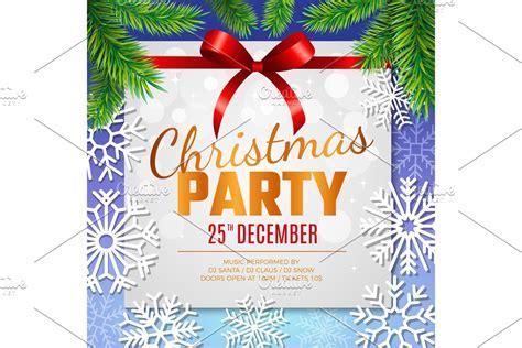 Christmas party card Invitation Custom Designed