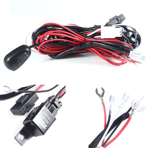 Universal Wiring Loom Harness Kit Car Fog Light Bar With