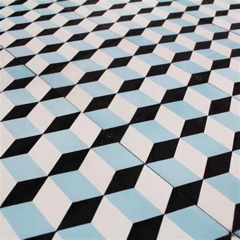 carreau ciment blue small cube carrelage ciment motifs d 233 cors