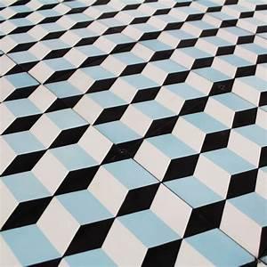 carreau ciment blue small cube carrelage ciment motifs With carreau d arrache