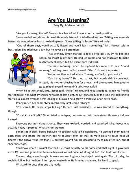 practice third grade comprehension worksheets practice