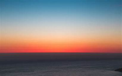 Sunset Horizon Sea Sky 4k Background Ultra