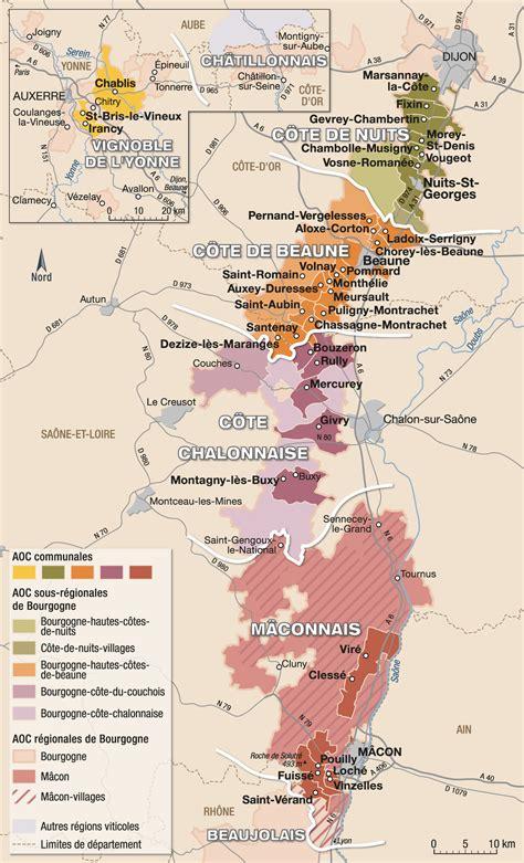 Acheter Carte Des Vignobles Français by Bourgogne Les Appellations R 233 Gionales De Bourgogne