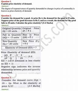 Ncert Solutions For Class 12 Micro Economics Chapter 4
