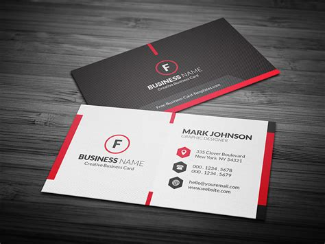 scarlet red creative business card template