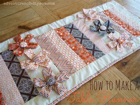 fall table runners to make how to make a table runner with fabric flowers