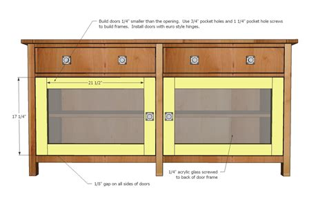 Media Cabinet Plans by Plans To Build Media Console Plans Pdf Plans