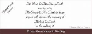 wedding invitation wording wedding invitation wording With wedding invitations wording with guest names