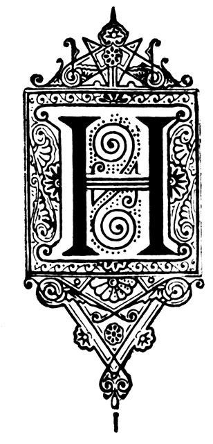 ornate initial clipart
