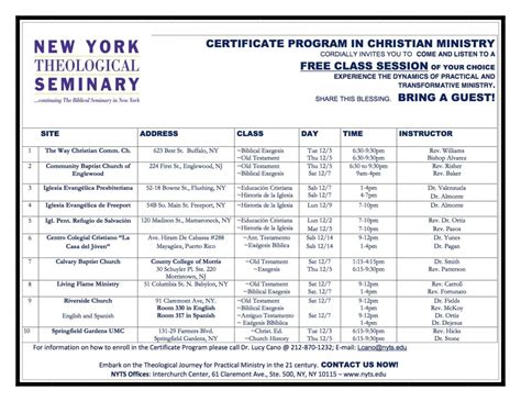 Certificate Programs Free by Certificate Program In Christian Ministry Free Class