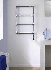 radiateur seche serviettes a eau chaude en aluminium With porte d entrée alu avec chauffe serviette salle de bain electrique