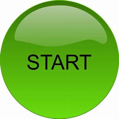 Button Start Clip Clipart Begin Buttons Cliparts