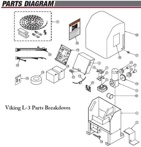 l replacement parts viking access l 3 slide gate opener repair parts viking