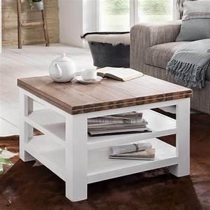 Couchtisch Weiß Landhausstil : couchtisch weiss braun landhaus beistelltisch massivholz 65x65x45 akazie massiv ebay ~ Sanjose-hotels-ca.com Haus und Dekorationen