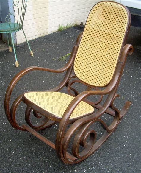 thonet style rocking chair for sale antiques