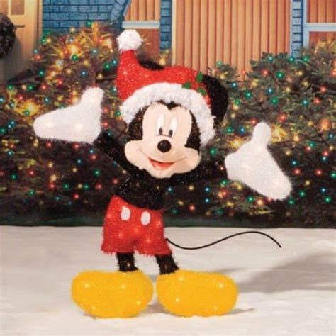 lighted house lighted mickey mouse sculpture outdoor yard