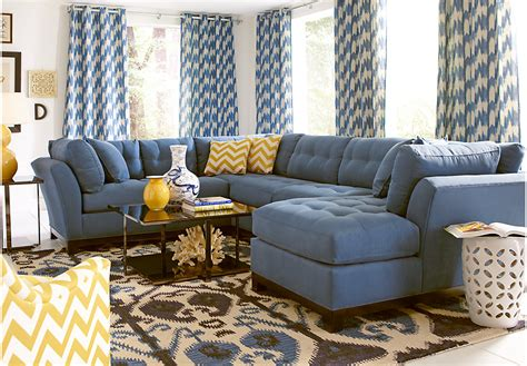 cindy crawford home metropolis indigo 4 pc sectional