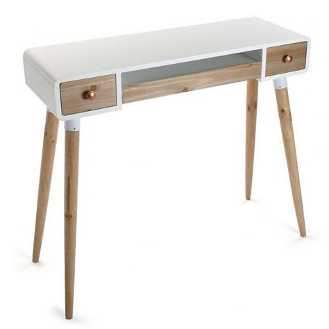 table bureau design table bureau console avec tiroirs design scandinave bois