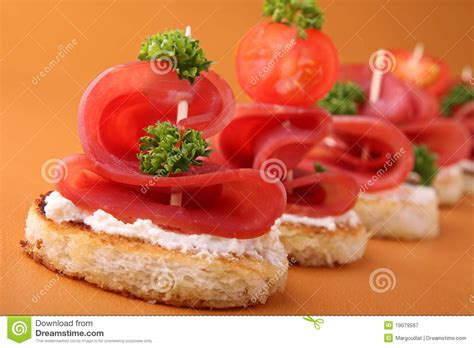 canape appetizer appetizer canapes royalty free stock photography image