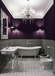 bathroom design in purple tones and shades bathroom With dark purple bathrooms