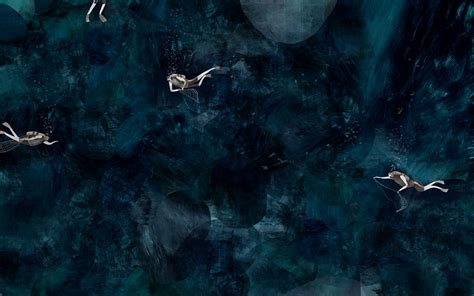 diving diver sports underwater ocean fantasy abstract
