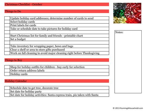 enjoy the holiday season october checklist running a