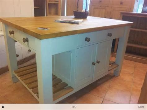 bespoke solid wood kitchen island unit  oak top