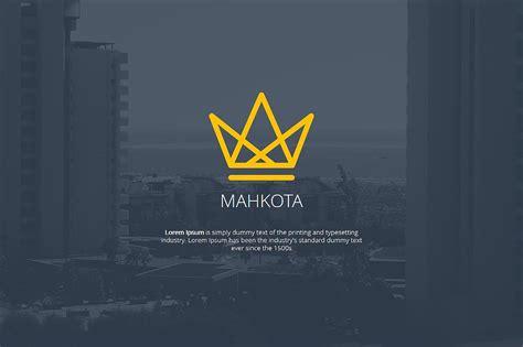 mahkota powerpoint template powerpoint templates