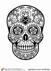 Tete De Mort Mexicaine Dessin : coloriage cr ne en sucre mexicain c ur et fleurs ~ Melissatoandfro.com Idées de Décoration