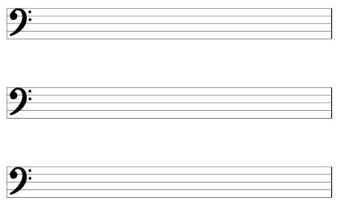 Write your own music on this free printable blank music staff paper for musicians and songwriters. Large Printable PDF Blank Bass Clef Staff Paper | Large printable, Music lessons, Clef
