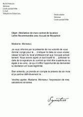 Lettre Resiliation Bail Bureau Document Online