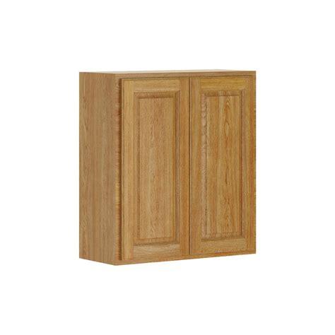 medium oak kitchen cabinets hton bay assembled 27x30x12 in wall cabinet in 7422
