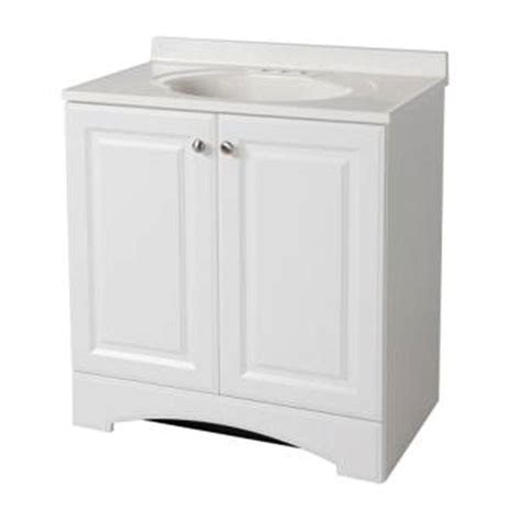 30 inch bath vanity glacier bay 30 1 2 in w bath vanity in white with vanity