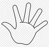 Outline Hand Clipart Left Handprint Template Printable Coloring Right Main5 Middle Transparent sketch template