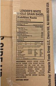 lenders whole wheat bagels nutrition facts
