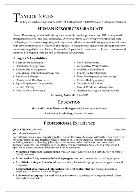 hr resume examples  ms word apple pages google