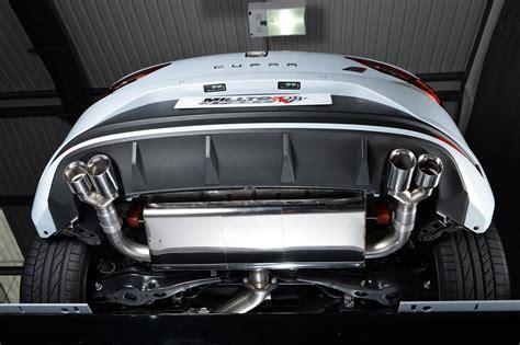 leon cupra seat exhaust 280 escape performance milltek 5f sport ps tsi para systems gets sistema s1 cat autoevolution alldesign