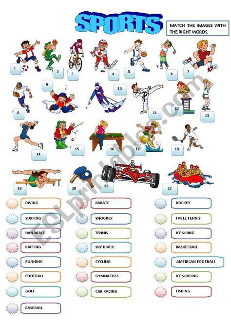 sports esl worksheet  sandytita
