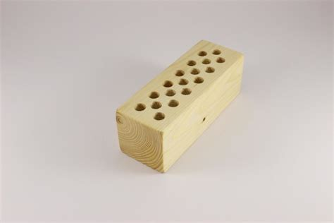 Holder With Holes by Pencil Holder From Wood With 18 Holes Woofwoofwood
