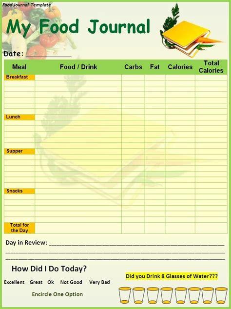 food diary template printable food journal template