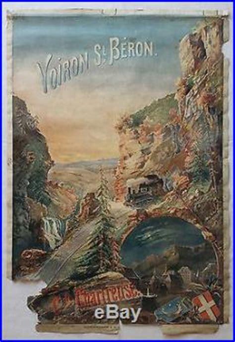 chambre d hote voiron affiche publicitaire touristique chemin de fer voiron st